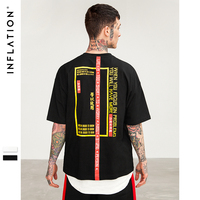 INFLATION 2018 New T Shirt Men Brand Clothing Print T Shirt Male Top Quality 100 Cotton