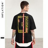 INFLATION 2018 New T Shirt Men Brand Clothing Print T Shirt Male Top Quality 100 Cotton