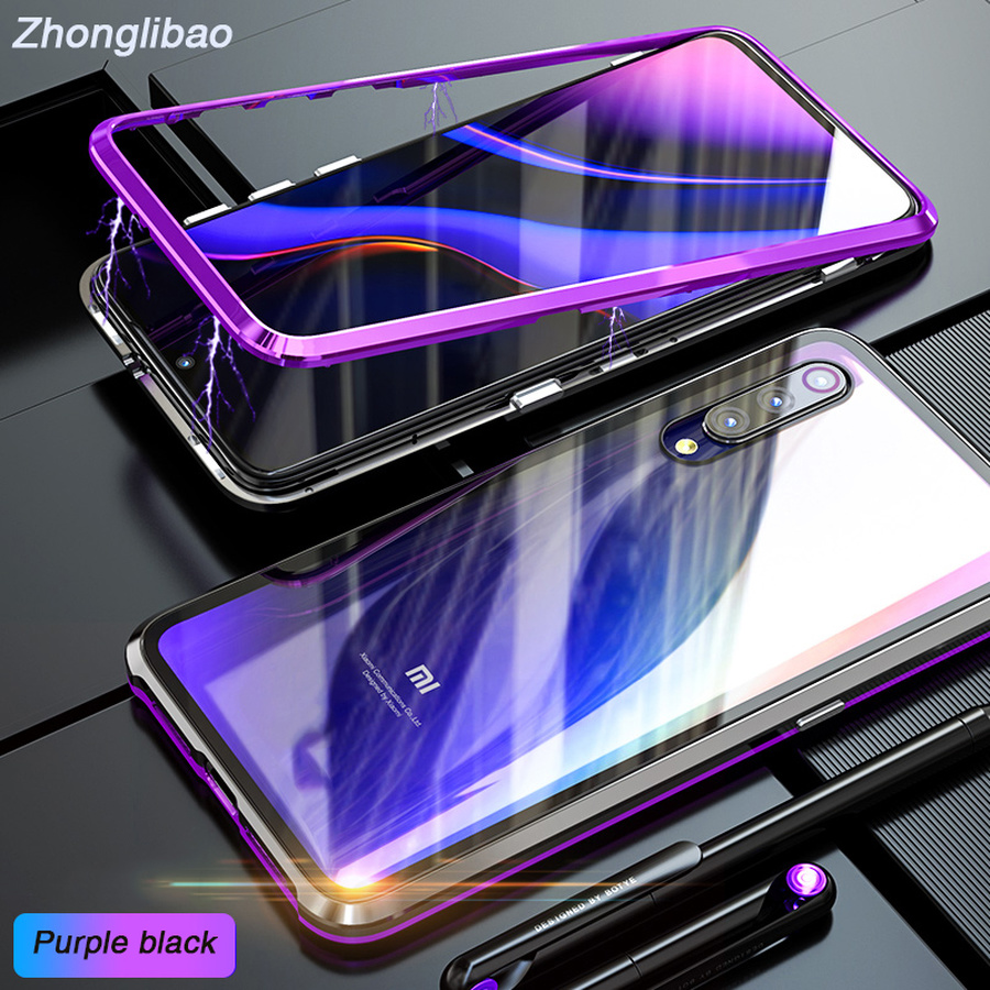 Luxury Magnetic Adsorption Case for Xiaomi Mi 9 Ultra Magnet Metal Clear Tempered Glass Mobile Phone Cover for Xiomi Xiao Mi 9 image