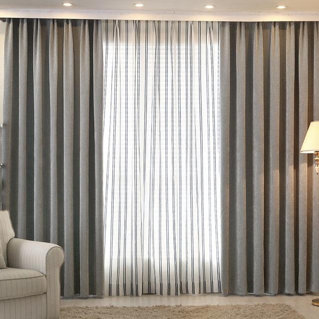Janela sombra tecido cortina blecaute cortinas modernas para sala de estar do quarto janela da - Tende sala moderna ...