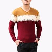 Plus Size 8XL 2016 New Fashion Men S Sweater Autumn Argyle V Neck Sweater Mens Clothing