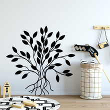 Carved Plant Wall Art Decal Decoration Fashion Sticker Living Room Children Room Mural Poster plant wall decal