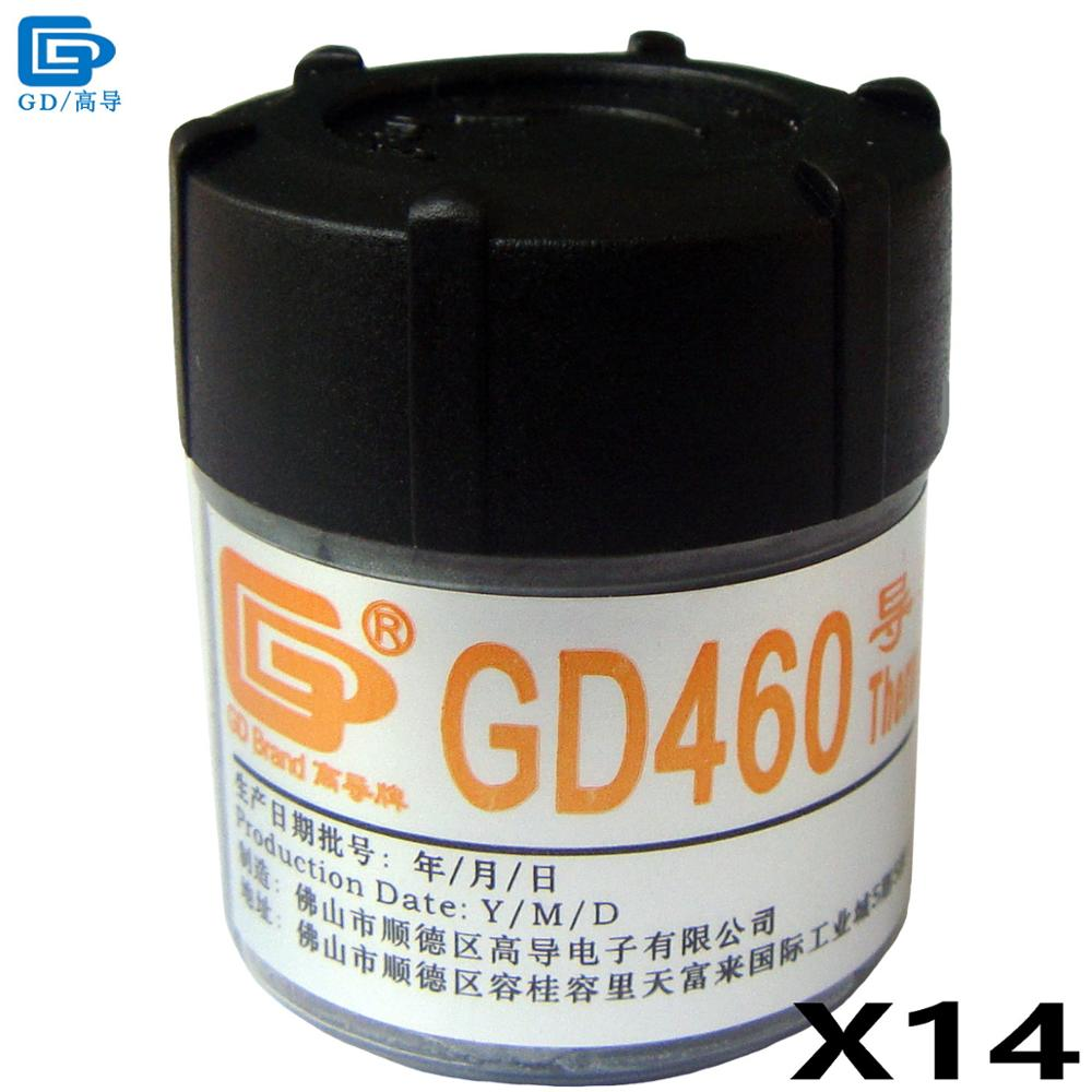 GD460 Thermal Conductive Grease Paste Silicone Plaster Heat Sink Compound 14 Pieces Silver Net Weight 20 Grams For GPU CPU CN20 newest 100g thermal conductive grease paste silicone plaster heat sink compound cooling silver net for graphics cpu