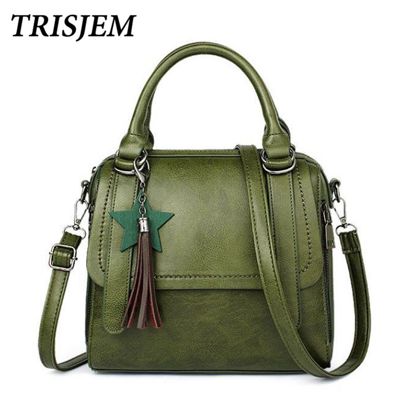 women leather handbags brown luxury brand tassel bags vintage chic 2017 tote shoulder bag for women sac a main femme de marque exclusive limited women tote bag handbags high quality shoudler bags with hair ball ornaments sac a main femme de marque celebre