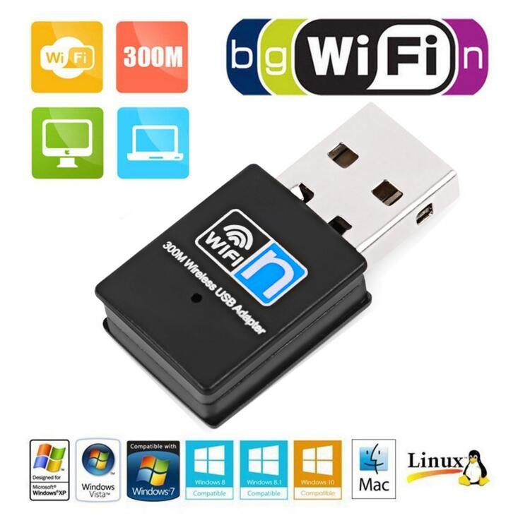 300 Mbps WLAN USB Adaptateur Mini USB WIFI Adaptateur USB wifi Réseau 8192EU WiFi Signal Émetteur Récepteur De Bureau
