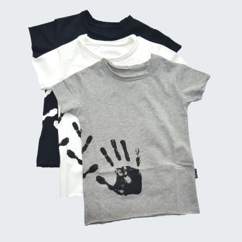 Boys T-shirts Cotton Hand Print Girls Tops Skull Patch Splash Tees Shirts Clothes For Toddlers Baby Tops 2018 nununu clothes