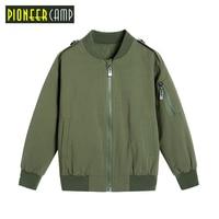 Pioneer Camp Kids Spring Autumn Jackets for Boy Coat Bomber Jacket Army Green Boy's Windbreaker Winter Outdoor Jacket