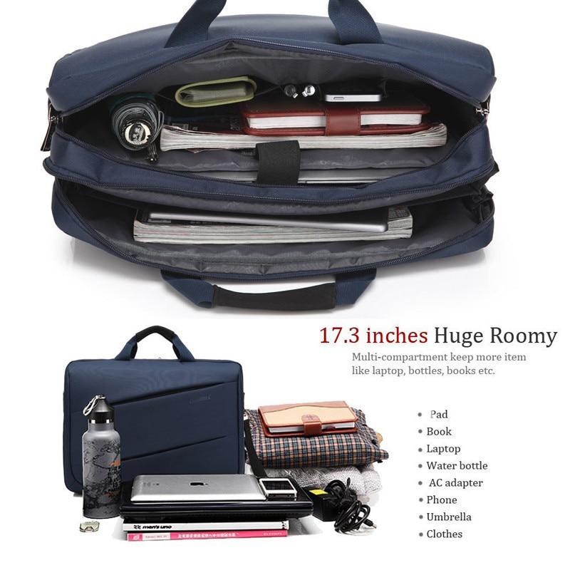 CoolBell moda 17,3 pulgadas ordenador portátil 17 ordenador portátil bolsa de mensajero impermeable hombro bolsa hombres mujeres maletín - 3