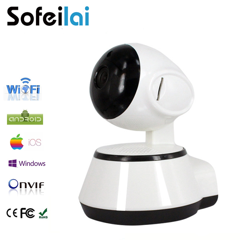Sofeilai Home Wireless IP Camera 720P HD Night Vision Surveillance Indoor Micro Sd card Slot Onvif CCTV Security P2P Cameras full hd ip camera 5mp with sound dome camera ip cam cctv home security cameras with audio indoor cameras onvif p2p