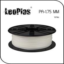 Быстрая доставка по всему миру Прямой Производитель 3d-принтер Материала 1 кг 2.2lb 1.75 мм Белый ПА Нити