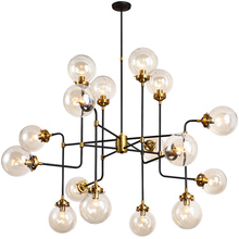 Nordic LED Iron Glass Pendant Lights Magic Bean LED Lamps Vintage Hanging Glass Ball Pendant Lamp Dining Room Restaurant Lights 1pc iron glass pendant lights retro living room restaurant corridor balcony garden personality pendant lamps za