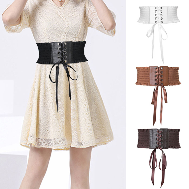 Women Lady Dress Belt Wide Decoration Waist Strap Bowknot Fashion Durable Waistband New