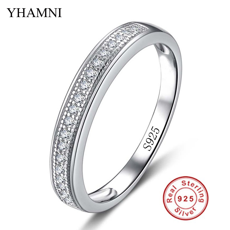 Luxury Fine Jewelry Real 100% Silver Rings for Women Zircon CZ Diamant Engagement Ring 925 Sterling Silver Ring Wholesale YJZ012