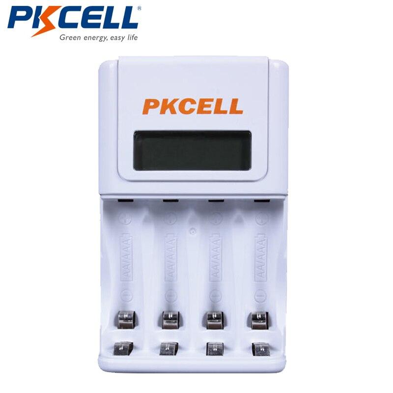 1 Stücke * PKCELL Batterie Ladegerät für AA/AAA NIMH/NICD Akkus Ladegerät LCD Display EU/Us-stecker