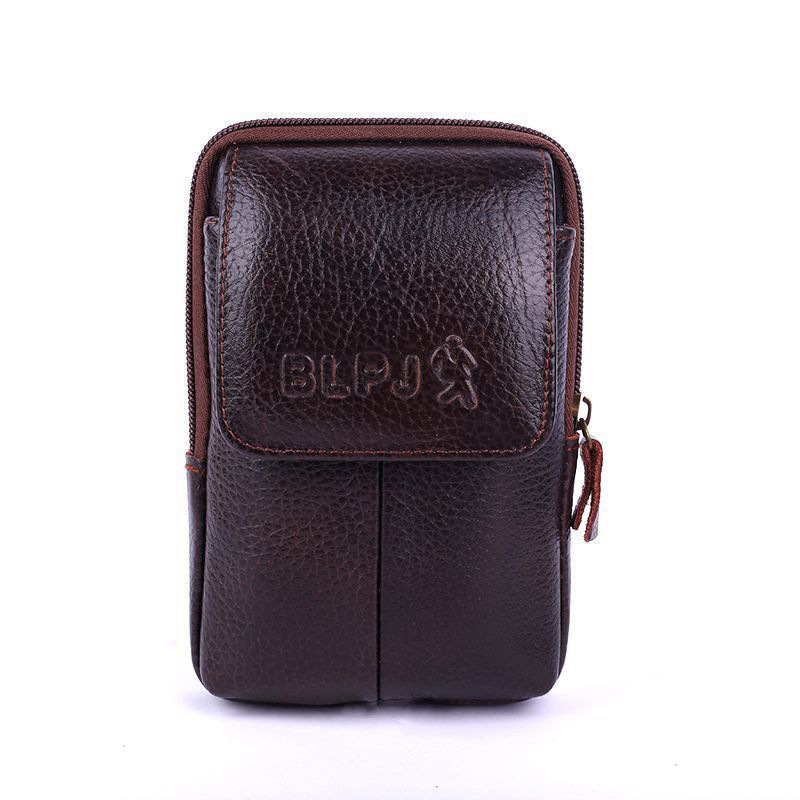 BISI GORO Outdoor Pack Wallet Multi-function Phone Coin Card Men Small Waist Bag Cow Leather Wearresistant Purse Porta Tarjetas