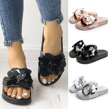 купить Fashion Summer Women Slippers Flats Non-slip PVC Slides Pool Sandal Beach Flip Flops Home Women Indoor Outdoor Slippers D25 по цене 857.95 рублей