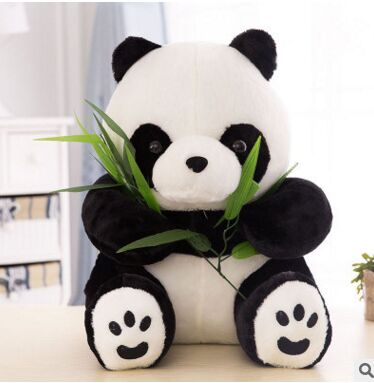 cute new plush panda toy stuffed sitting panda doll gift about 40cm 110cm cute panda plush toy panda doll big size pillow birthday gift high quality
