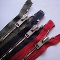 2 pcs/lot YKK Zipper Metal OPEN END HEAVY DUTY FOR Leather COAT Jacket Sewing Accessories