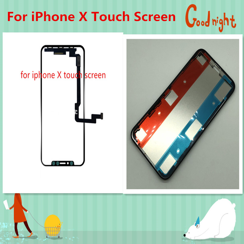 New For iPhone X Touch Screen Panel Digitizer Glass Sensor Replacement For iPhone 10 iphoneX Touch screen and Bezel Housing
