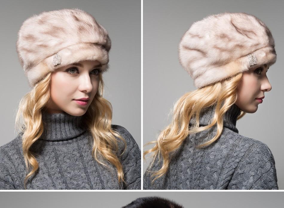 mink fur hat female winter PCM027 (10)
