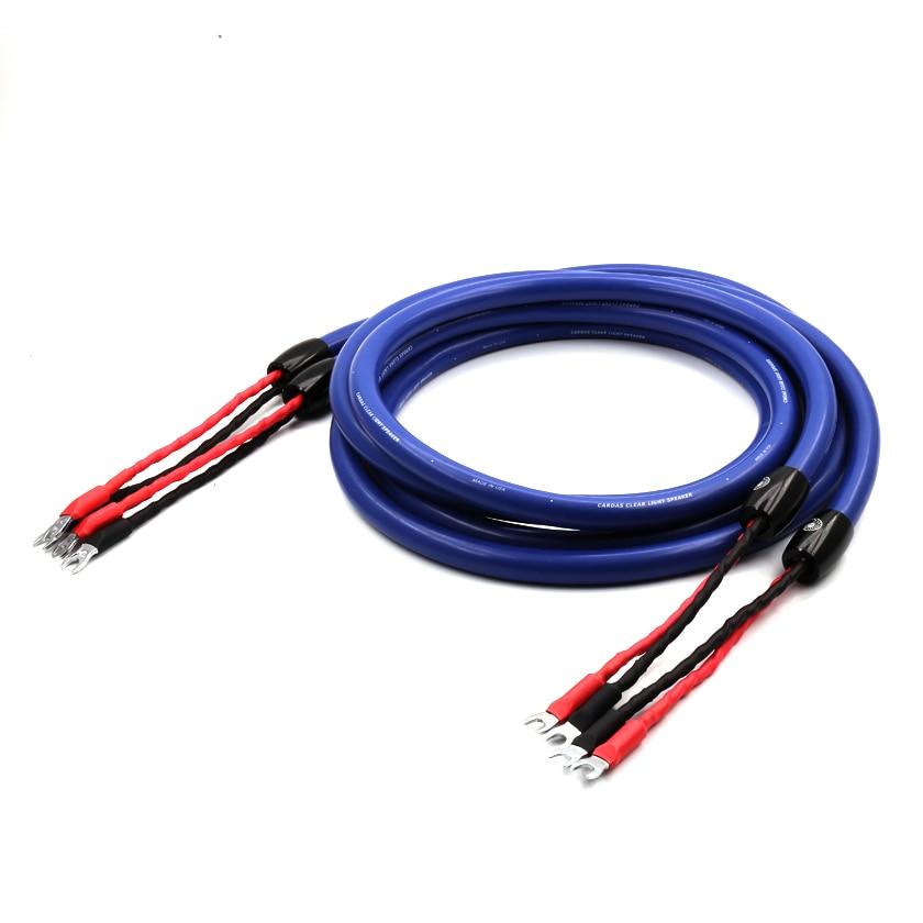 DHL Livraison gratuite 3 meter/pair Cardas Claire Lumière Haut-Parleur Câble avec la boîte originale audio haut-parleur fil spade plug câble