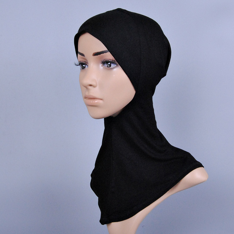 20 color women solid color cotton hijab muslim inner hats caps modal Render cap Full Cover