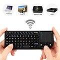 New Black 3 em 1 Rii mini-x1 Handheld 2.4G Sem Fio RF teclado Qwerty Com Touchpad Mouse Para PC Notebook Smart TV Box Google