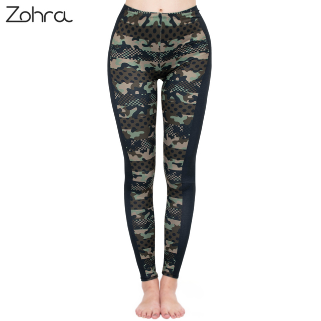 Zohra Brands Women Fashion Legging Imitation Camouflage Printing leggins Slim  Punk Leggings Fitness Pants