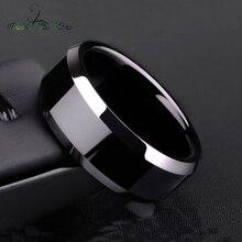 Nextvance 8 мм титановая сталь черное классическое кольцо для мужчин обручальные кольца радужные кольца мужские ювелирные изделия Прямая поставка