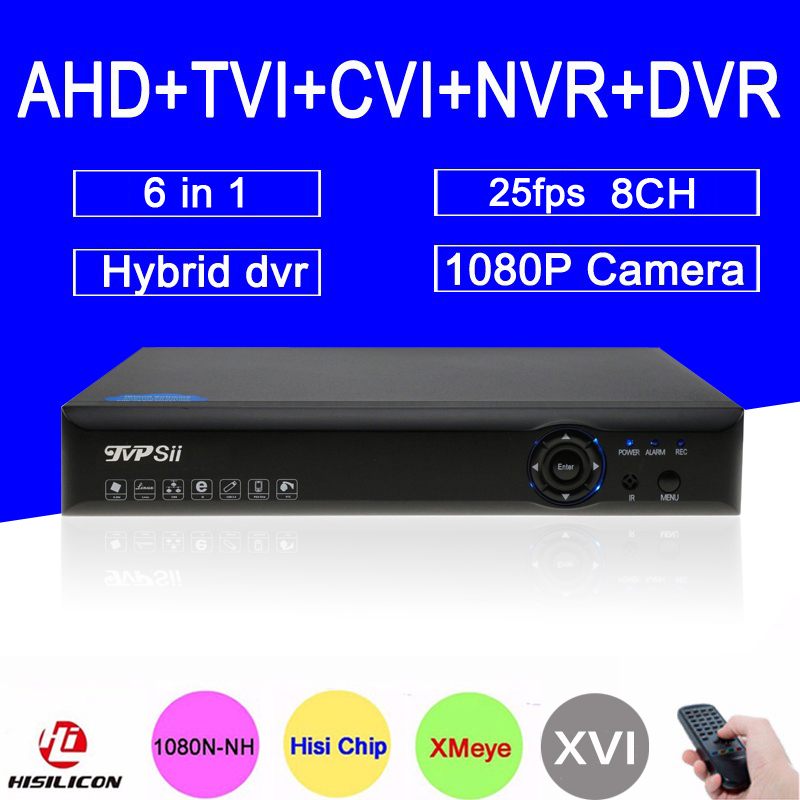 Blue-ray Xmeye Hi3521A 1080P CCTV Camera 25Fps 1080N 8 Channel 8CH 6 in 1 Hybrid Coaxial TVI CVI IP NVR AHD DVR Free Shipping gadinan 8ch ahdnh 1080n dvr analog ip ahd tvi cvi 5 in 1 dvr 4ch analog 1080p support 8 channel ahd 1080n 4ch 1080p playback