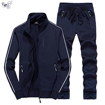XIYOUNIAO Track Suit Men 6XL 7XL 8XL Winter Autumn Two Piece Clothing Set Brand Casual Tracksuit Sportswear Sweatsuit