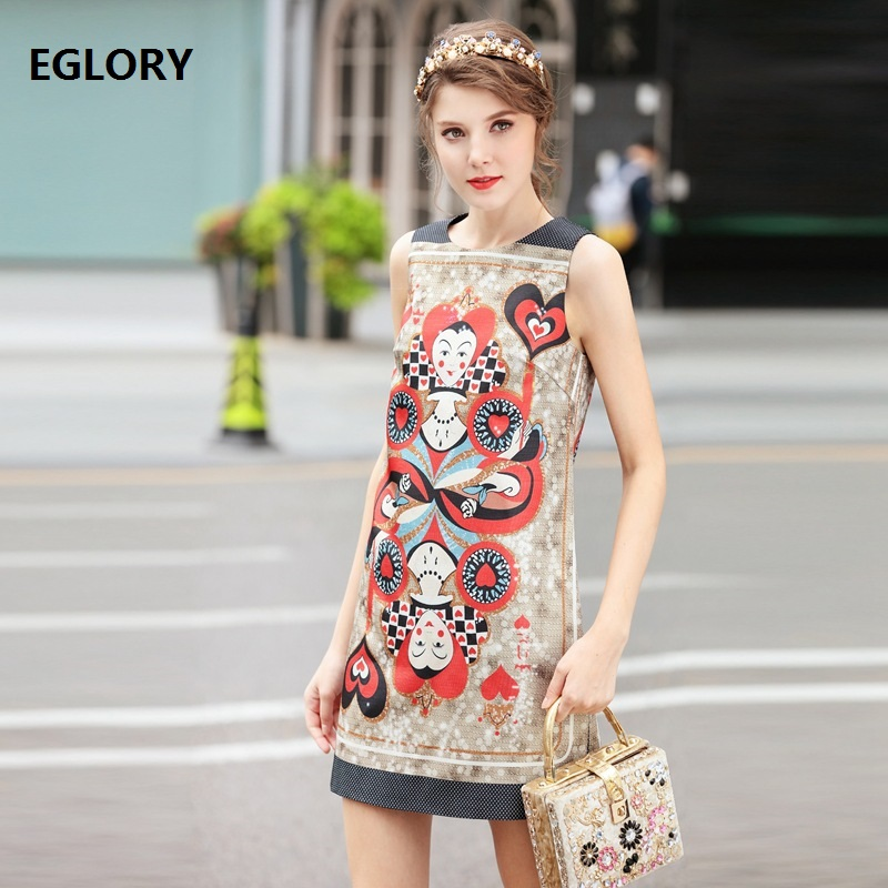 New 2018 Spring Summer Dress Ladies Cute Baby Prints Sleeveless Short Party Club Dress Girls Casual Sweet Dress Lolita Style