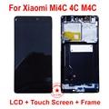 ВЫСОКОЕ Качество Черный Полный ЖК-Дисплей С Сенсорным Экраном Дигитайзер Ассамблеи с рамкой Для Xiaomi Mi4C 4C M4C Замена Мобильный Телефон