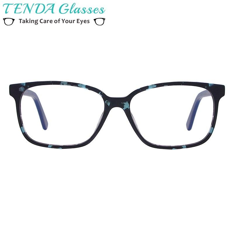 Rectangular Men and Women Spectacle Frame Full Rim Tortoise Acetate Eyeglasses For Prescription Lenses