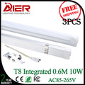 0.6M T8 led integrated tube 10Watt with CE RoHS, 3pcs/lot free shipping