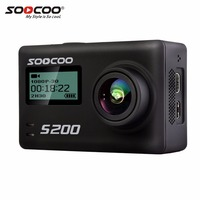 SOOCOO S200 Ultra HD 4K Action Camera NTK96660 + IMX078 Mini Sport Cam With WiFi Voice Contorl GPS 2.45 Touch LCD Screen