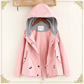 TIC-TEC женщин куртки пальто весна осень свободные моды с капюшоном карманы вышивка Верхняя Одежда jaqueta feminina P3042
