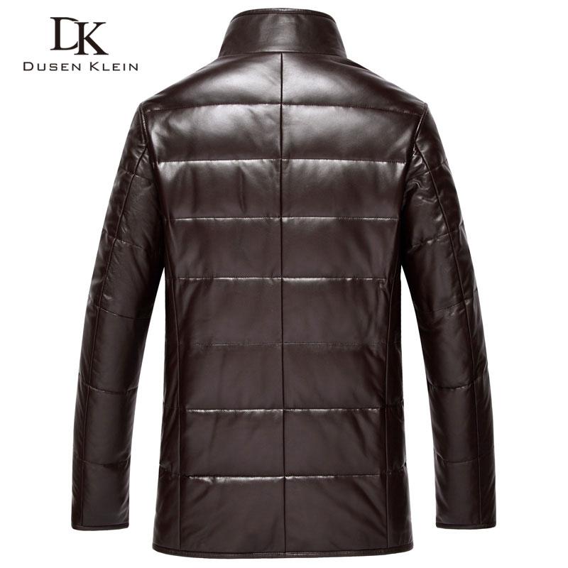 Dusen Klein din piele Down Coat bărbați piele de lux din piele - Imbracaminte barbati - Fotografie 3