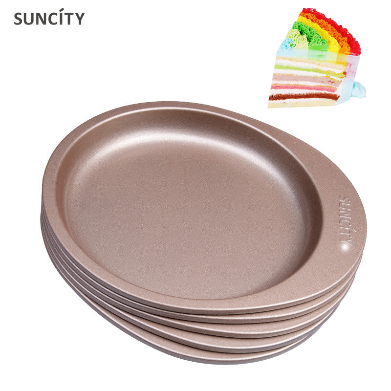 Suncity 5Pcs Rainbow Cake Mold Fondant Muffin Stencils Baking Dish Confectionery Patisserie Utensils Bakery Attachments Products