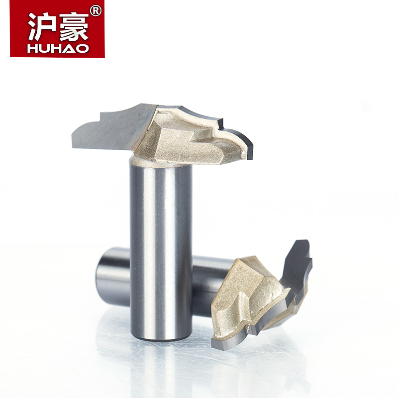 цена на HUHAO 1pc 1/2 Shank Trimmer Router Bits For Wood Tungsten Carbide Woodworking Engraving Endmill Precision Work Edge Cutter