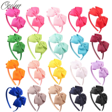 Hot Sales 11 pieces/lot High Quality Hair Band With Grosgrain Ribbon Hair Bow Hair Band For Kids  CNHB-1307282 цены