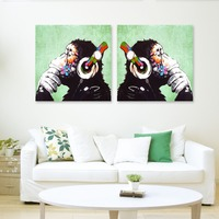 Modern Style Banksy Street Art Print DJ MONKEY Chimp PAINTING Canvas Painting Home Decor Wall Pictures