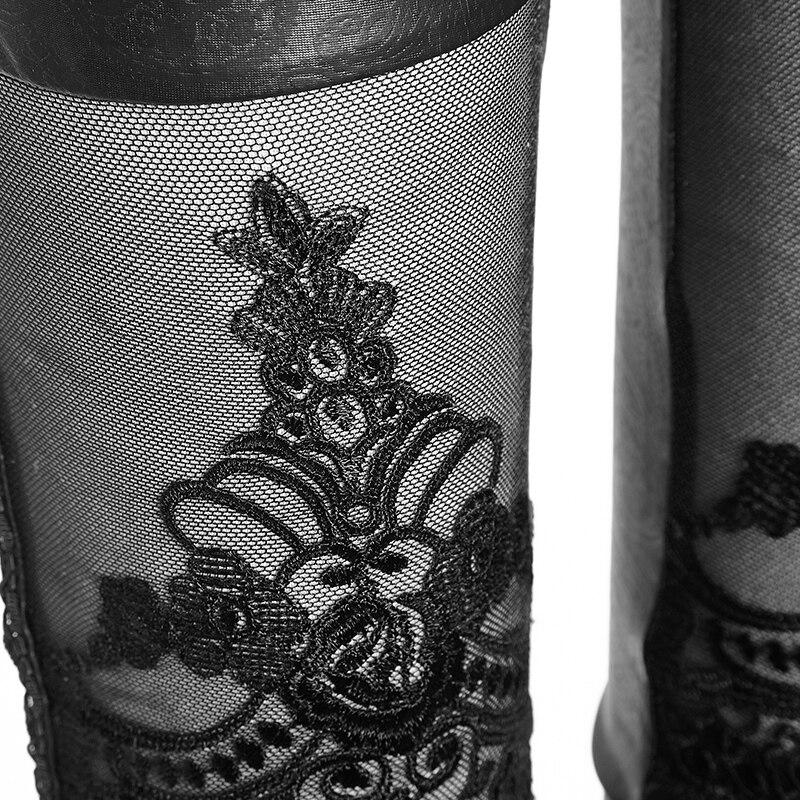 Pantalon Punk Buena Sexy Leggings Bind Elástico Moda Mujeres Encaje K Flocado 144 Rave Femme rwqAFvr
