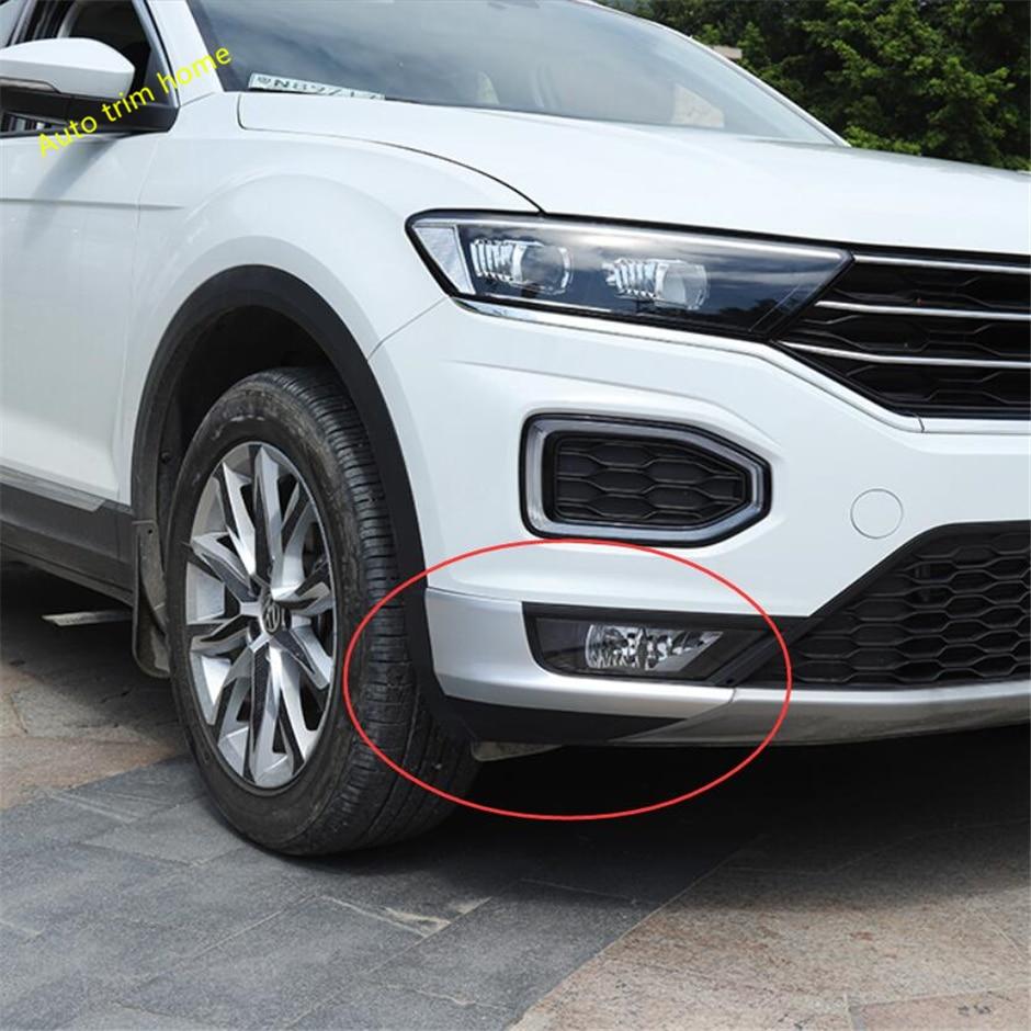 Lapetus хром матовый передний защита угла бампера молдинг украсить обложку 2 шт. подходит для Volkswagen T-Roc T Roc 2018 2019 ABS