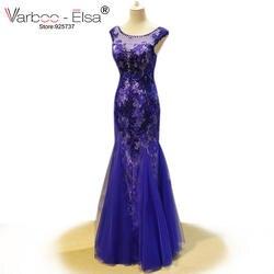 Vestidos Longo De Festa Русалка вечернее платье Royal голубое платье пол Длина элегантные вечерние платья вечернее платье халат De Soiree