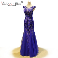 vestidos longo de festa Mermaid Evening Dress Royal Blue Dress Floor Length elegant evening gowns party dresses Robe De Soiree