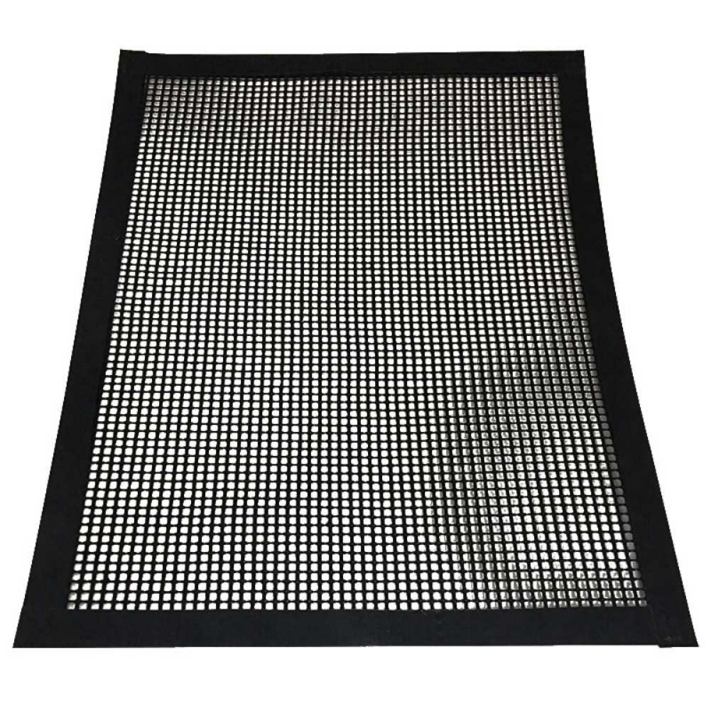 BBQ Grill Mesh Teflon Non-Stick Heat Resistance Improve Thermal Conductivity Mats Use on Gas, Charcoal, Electric Barbecue