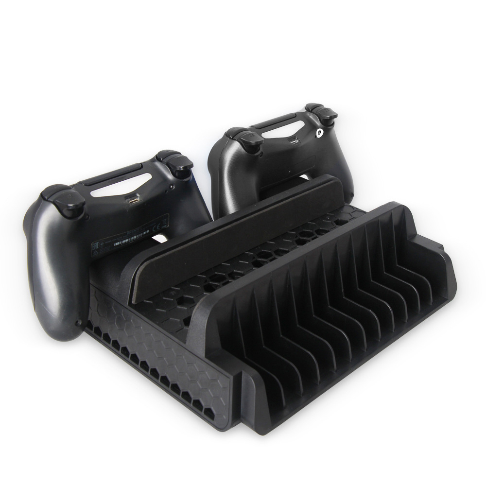 Pour PS4/PS4 Slim/PS4 PRO support Vertical avec ventilateur de refroidissement refroidisseur double contrôleur chargeur Station de charge pour Playstation 4