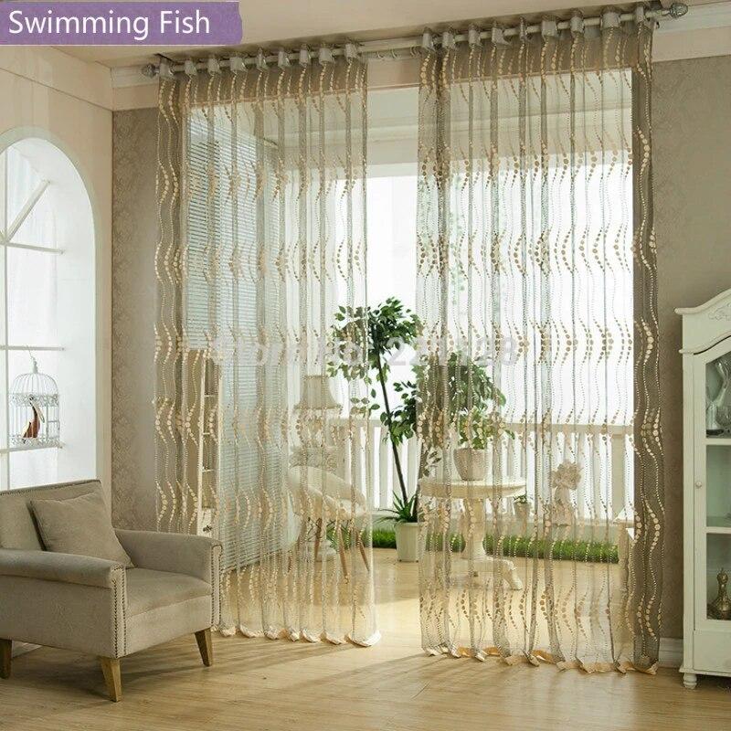 300 cm ou 400 cm largeur haute qualite pure rideau broderie tulle panneau voile rideau pour salon chambre livraison gratuite