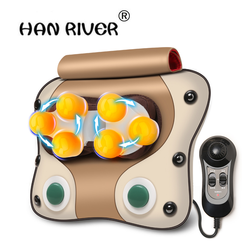 HANRIVER high quality Cervical massage device neck lumbar cushion full-body multifunctional massage pillow household hot sales цена